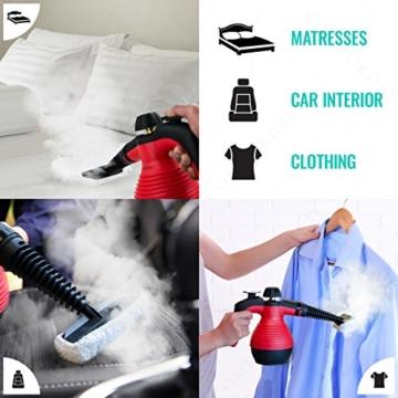 ALL IN ONE Comforday DAMPFREINIGER Steam Cleaner für Boden, Fenster, Autositze, Arbeitsflächen, Mülleimer, Kühlschrank, Schneidebretter, Badezimmer, Polster, Matratze, Vorhänge, Teppiche u. KatzenWC - 3