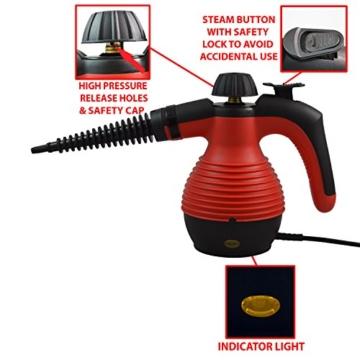 ALL IN ONE Comforday DAMPFREINIGER Steam Cleaner für Boden, Fenster, Autositze, Arbeitsflächen, Mülleimer, Kühlschrank, Schneidebretter, Badezimmer, Polster, Matratze, Vorhänge, Teppiche u. KatzenWC - 7