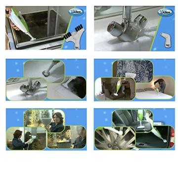 Aqua Laser Gold - Premium Dampfbesen Dampfreiniger mit kraftvollen 1500W und integriertem Handdampfreiniger - Hygienische und gründliche Sauberkeit (weiß / schwarz) - 3