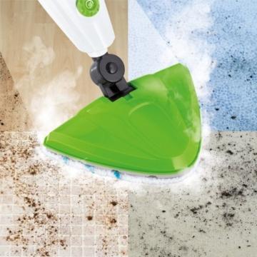 CLEANmaxx 08337 Dampfbesen 5 in 1 | Teppichreiniger | Handdampfreiniger | Fensterreiniger | 350 ml Wassertank | 1.500 Watt | Weiß-Grün - 6