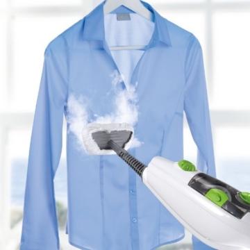 CLEANmaxx 08337 Dampfbesen 5 in 1 | Teppichreiniger | Handdampfreiniger | Fensterreiniger | 350 ml Wassertank | 1.500 Watt | Weiß-Grün - 8